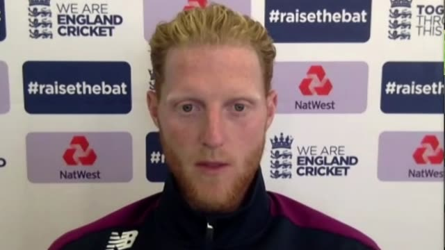 stockvideo's en b-roll-footage met england prepare to face the west indies under new conditions england int ben stokes set up shot with reporter / interview via internet sot - new not politics