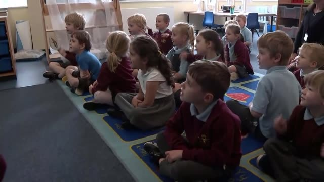 england's schools face spiralling cost of coronavirus; england: cheshire: northwich: hartford manor primary school: int various shots of school... - primary school child stock videos & royalty-free footage