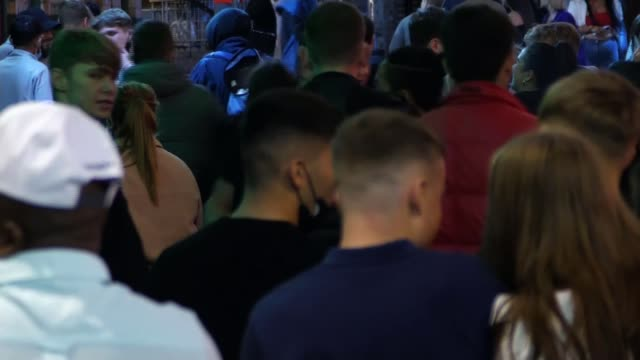 england's three-tier lockdown system puts liverpool region in highest alert level as infections increase nationwide; england: liverpool: ext/ night... - nightclub stock videos & royalty-free footage