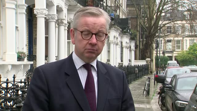 reverses decision to invoke article 16: michael gove interview; england: london: ext michael gove mp interview sot - on target of 15 million... - kansas stock videos & royalty-free footage
