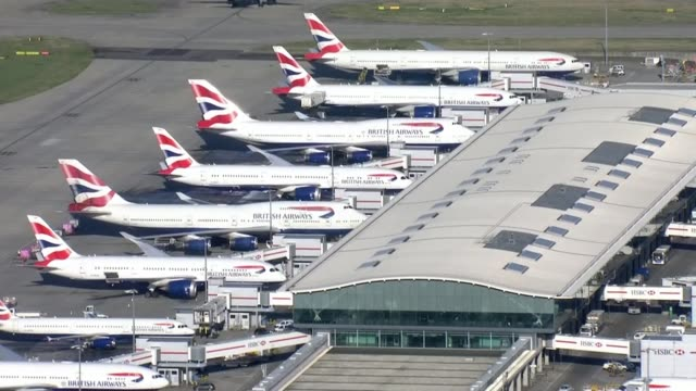 vidéos et rushes de experts alarmed by speed of transmission as number of cases in china surpasses sars england london heathrow airport british airways planes grounded... - processus biologique