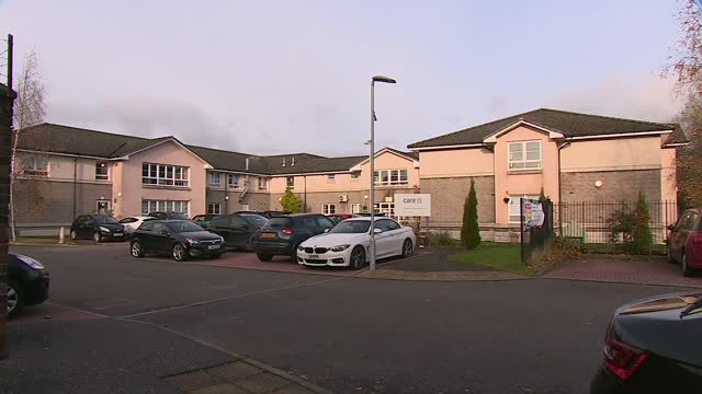 failings identified at scottish care home where 14 have died amid outbreak; scotland: east dunbartonshire: ext linda cocozza interview as standing in... - pink colour stock videos & royalty-free footage