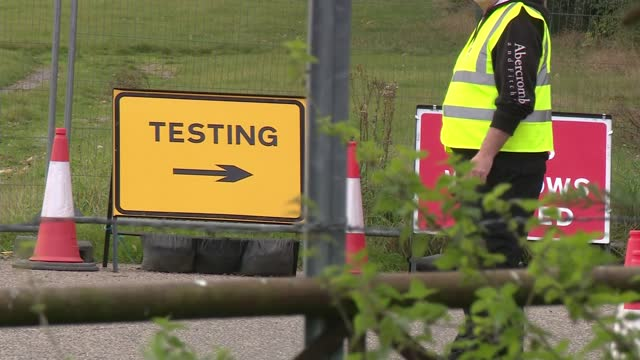 false negative pcr covid tests confirmed at berkshire site; england: berkshire: newbury: newbury showground: ext gvs nhs covid testing site and... - itv lunchtime news stock videos & royalty-free footage