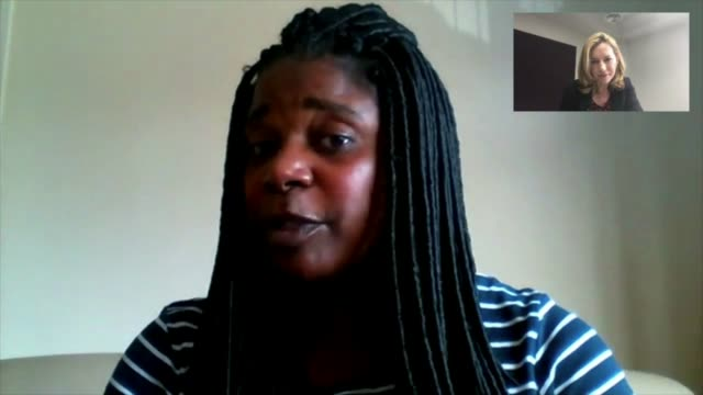 families of victims pay tribute england wolverhampton int professor doreen mccalla interview via skype sot london gir cutaways reporter listening - west midlands stock-videos und b-roll-filmmaterial