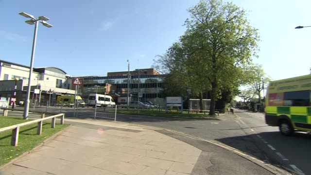 family of care worker who died from coronavirus accuses government of acting too slowly england birmingham ext gv entrance sign for 'good hope... - west midlands stock-videos und b-roll-filmmaterial