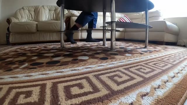 father of twins running daily marathons around his living room; england: manchester: ext various shots of asif amirat doing stretches outside his... - jogging stock videos & royalty-free footage