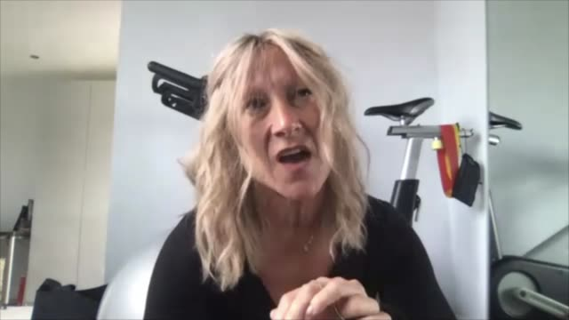 fitness instructor survives coronavirus despite dealing with stage 4 cancer; england: london: int hilary bentwood 2 way interview via internet sot - healthy lifestyle stock videos & royalty-free footage