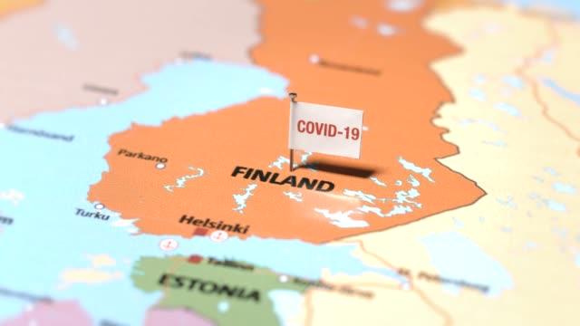 coronavirus flag on finland - positioning stock videos & royalty-free footage
