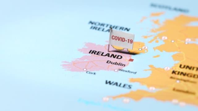coronavirus flag on ireland - northern ireland stock videos & royalty-free footage