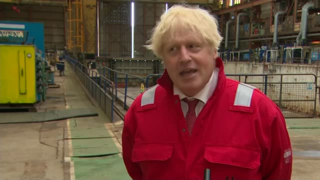 government advise wearing of face masks in lockdown area schools in another policy u-turn; england: devon: appledore: int boris johnson mp interview... - {{asset.href}} stock-videos und b-roll-filmmaterial