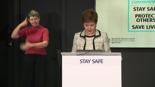 government announce airbridges with 73 countries and territories scotland edinburgh int nicola sturgeon msp and others at press conference sturgeon... - politics stock-videos und b-roll-filmmaterial