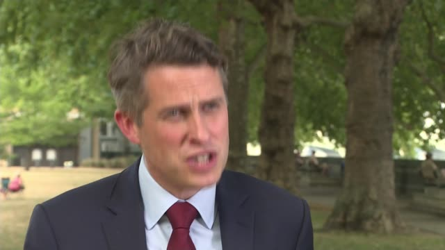 government defends lastminute changes to alevel and gcse exams grading system england london ext gavin williamson mp interview sot - politics stock videos & royalty-free footage