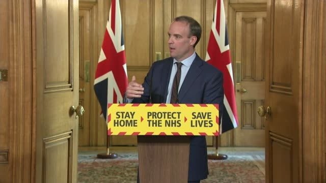 government expected to reveal plan to ease lockdown england london downing street number 10 int dominic raab mp professor sir ian diamond and dr... - newspaper stock videos & royalty-free footage