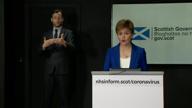 government extends lockdown for three weeks; scotland: edinburgh: int nicola sturgeon msp daily coronavirus press conference sot - this virus is not... - member of the scottish parliament stock videos & royalty-free footage