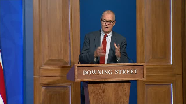 government sets out covid plan for the winter; england: london: westminster: downing street press briefing room: int professor chris whitty speaking,... - politics stock videos & royalty-free footage
