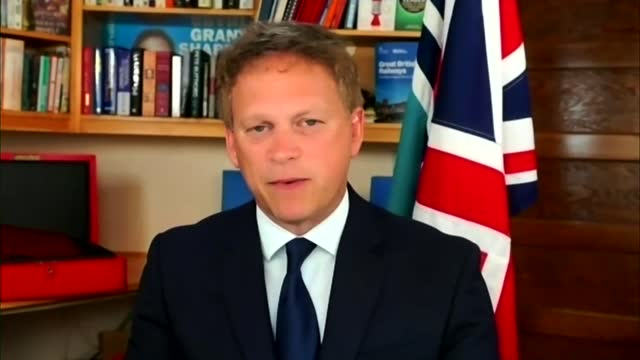"""grant shapps interview; england: int grant shapps mp interview via internet sot. q - """"what's the justification for putting portugal on the amber... - simply red点の映像素材/bロール"""
