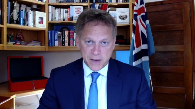 grant shapps interview england london int grant shapps mp interview via internet sot q who checks forms are filled in properly border force doing... - imagination stock videos & royalty-free footage