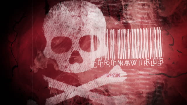 coronavirus grunge glitchy background - warning sign stock videos & royalty-free footage