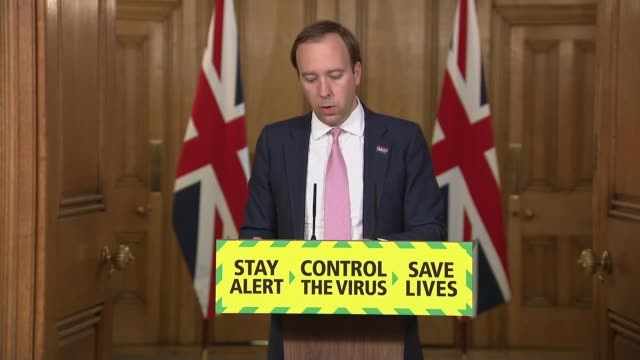guidance for 22 million people shielding in england to be eased 10 downing street downing street westminster london uk matt hancock mp and dr jenny... - speech bubble stock videos & royalty-free footage