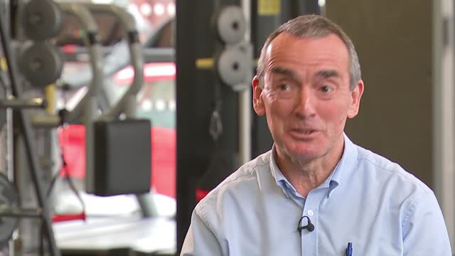 gyms prepare to re-open; uk, london; gym, better, exercise, weights, running machine, jogging, fitness, instructor, covid-19, coronavirus, social... - rack focus stock videos & royalty-free footage