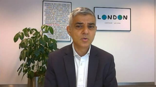 harsher restrictions expected in london as cases rise england london int sadiq khan interview via web sot - itv london tonight stock videos & royalty-free footage