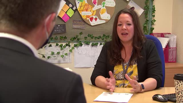headteacher sends letter of encouragement to parents struggling with home schooling; england: lancashire: barnoldswick: coates lane primary school:... - parent stock videos & royalty-free footage