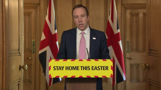 health secretary stresses lockdown message ahead of easter weekend as uk records its highest daily death toll; england: london: downing street:... - emotional stress stock videos & royalty-free footage