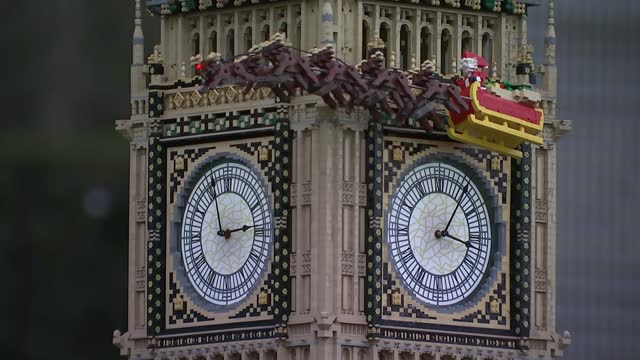 hospitality sector complains of unfair covid rules; uk, windsor; model, lego, legoland, merlin, miniature, london, landmarks, big ben, christmas,... - clock tower stock videos & royalty-free footage