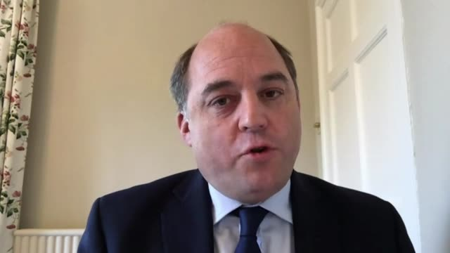 how and when should britain return to work?; england: london: int ben wallace mp interview via internet sot - ben wallace stock videos & royalty-free footage