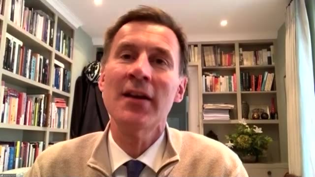 how did we get here how the government's big decisions were made england int jeremy hunt mp interview via internet sot if you're saying we've got no... - herd stock videos & royalty-free footage