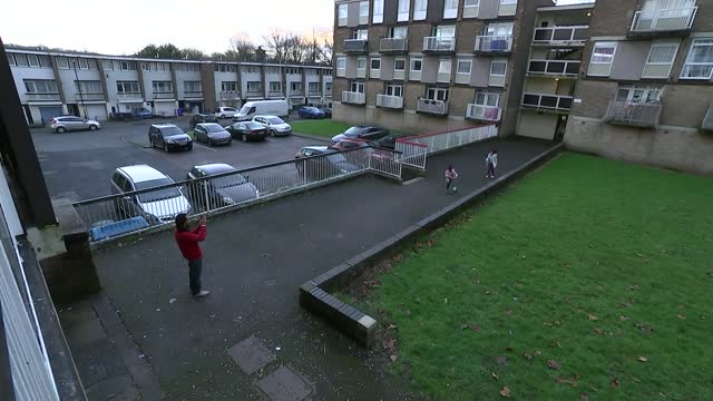 impact of home schooling on the most disadvantaged; england: south yorkshire: sheffield: winn gardens: int vox pops cutaway puddle on ground **music... - scoring stock videos & royalty-free footage