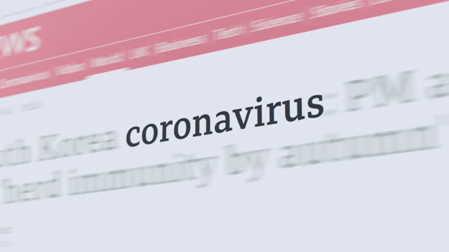 vídeos y material grabado en eventos de stock de coronavirus en el artículo y el texto - news event