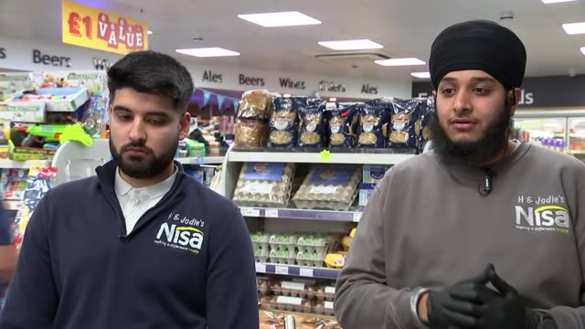 'in this together': family-run walsall convenience store providing for community; england: west midlands: walsall: int singh family standing behind... - convenience stock videos & royalty-free footage