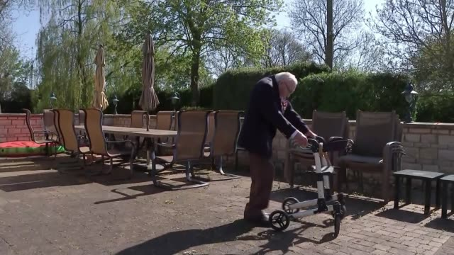 'in this together' pensioners raise money for the nhs england bedfordshire marston moretaine ext various of 99yearold military veteran captain tom... - captain tom moore stock videos & royalty-free footage