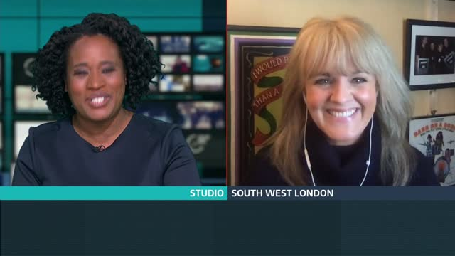 increase in online scams england london gir int sally lindsay 2 way interview from south west london sot re coronation street 60th anniversary - itv lunchtime news stock videos & royalty-free footage