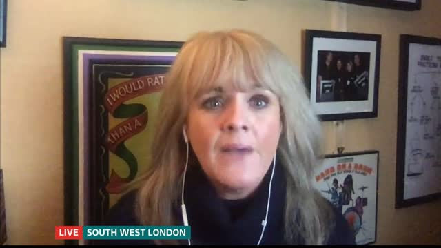 increase in online scams england london gir int sally lindsay 2 way interview from south west london sot - itv lunchtime news stock videos & royalty-free footage