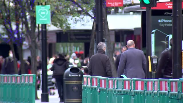 industry experts warn theatres, hospitality and tourism businesses could lose billions over christmas due to second lockdown; england: london: oxford... - itv london lunchtime news stock videos & royalty-free footage