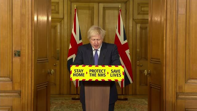 stockvideo's en b-roll-footage met infections may be levelling of / travel corridors closed to prevent entry of new strains of covid-19; england: london: downing street: int boris... - new not politics