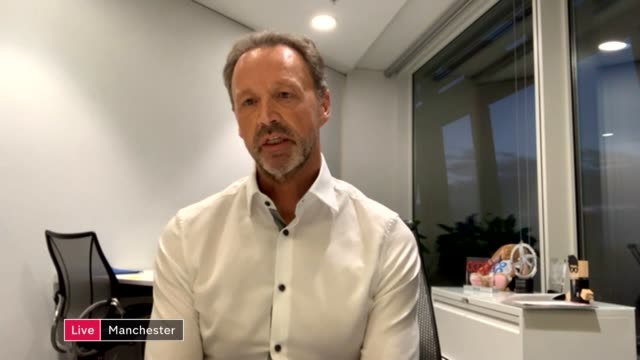 interview with coop ceo steve murrells england london gir int steve murrells live 2way interview from manchester sot - cathy newman stock videos & royalty-free footage