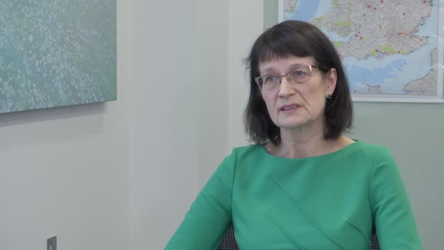 stockvideo's en b-roll-footage met interview with jenny harries, deputy chief medical officer for england; england: london: westminster: int dr jenny harries interview sot - re... - new not politics