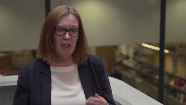 interviews and gvs from human vaccine trial in oxford; england: oxford: int professor sarah gilbert interview sot . - oxford oxfordshire stock-videos und b-roll-filmmaterial