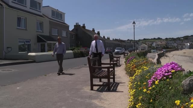 isles of scilly preparing to welcome back tourists; uk, england, isles of scilly; various shots of st mary's and st martins, town beach, post office,... - isles of scilly stock videos & royalty-free footage