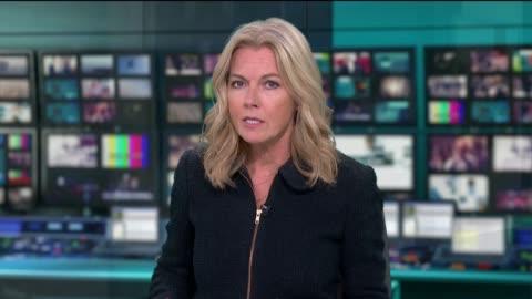 news special: boris johnson addresses the nation; england: london: gir: int live studio presenter mary nightingale to camera sot - mary nightingale stock videos & royalty-free footage