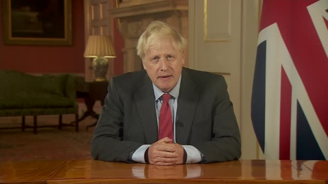 itv news special boris johnson addresses the nation england london westminster downing street int boris johnson mp statement sot part 2 of 2 if we... - things that go together stock videos & royalty-free footage
