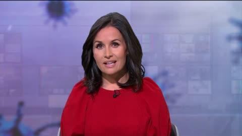 vídeos y material grabado en eventos de stock de news special: coronavirus q and a; england: london: gir: int presenter to camera - reportaje imágenes