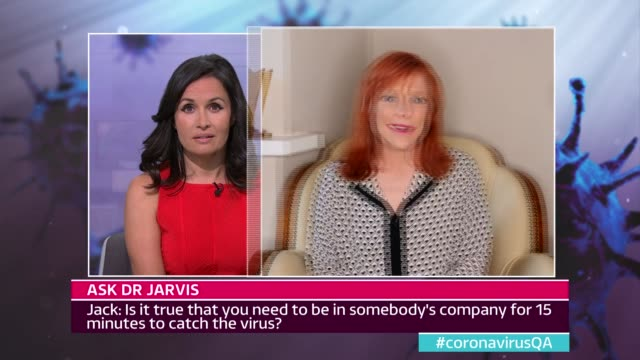 news special: coronavirus q and a; england: london: gir: int dr sarah jarvis interview via internet sot viewers jack asking dr sarah jarvis questions... - report produced segment stock videos & royalty-free footage