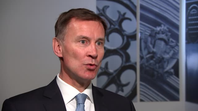 jeremy hunt interview england london westminster int jeremy hunt mp interview sot on government's actions / state of nhs on hygiene / handwashing etc... - imitation stock videos & royalty-free footage