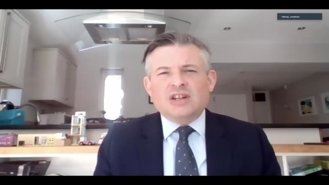 jonathan ashworth interview england london int jonathan ashworth mp interview via internet sot when government have had to make tough decisions we've... - global business stock videos & royalty-free footage