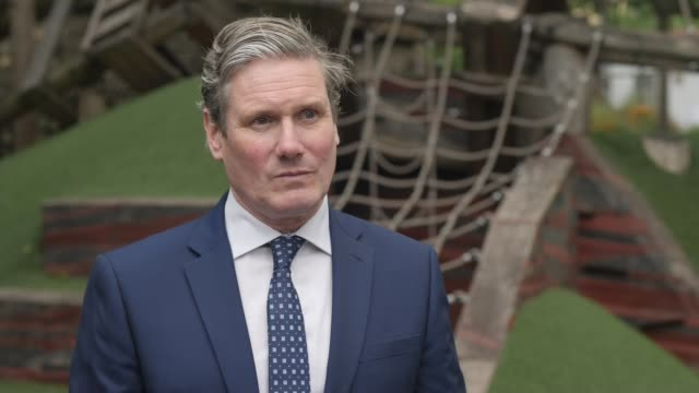 keir starmer and kate green interviews england london camden ext sir keir starmer mp interview sot any investment in schools is a good thing we need... - shadow stock videos & royalty-free footage