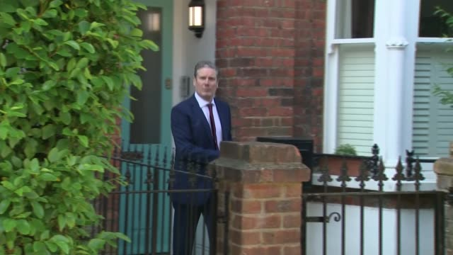 keir starmer departs for pmqs; england: london: ext sir keir starmer mp from house to car and answers questions sot / - keir starmer stock videos & royalty-free footage